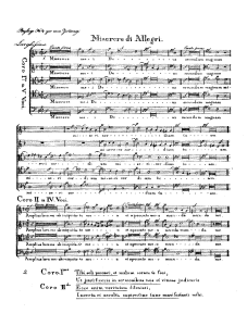 Sheet Music Allegri's Miserere