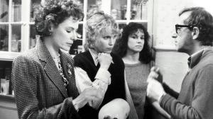 Allen directing Dianne Wiest, Mia Farrow & Barbara Hershey in Hannah & Her Sisters