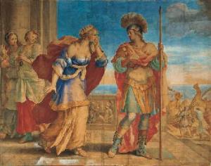 Aeneas leaving Dido by Giovanni Francesco Romanelli