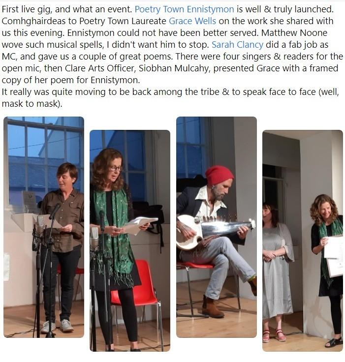 Poetry Town Ennistymon 11 Sept 2021 launch #2