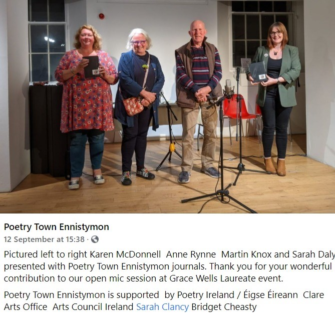 Poetry Town Ennistymon 11 Sept 2021 launch